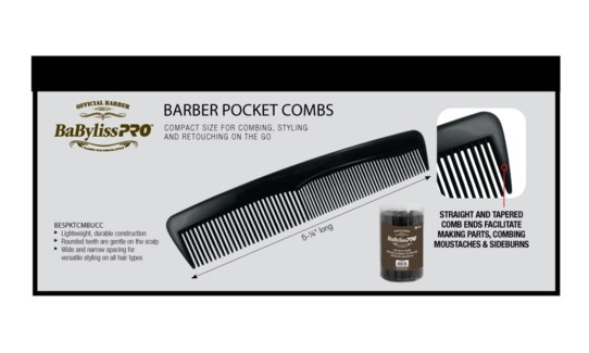 36pc BABYLISS Barber Pocket Combs