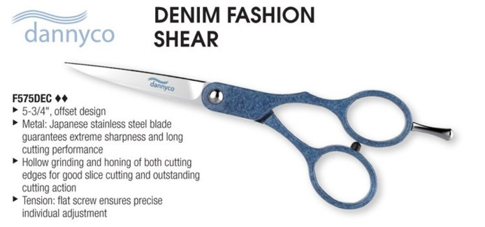 "5 3/4"" Denim Offset Scissors"