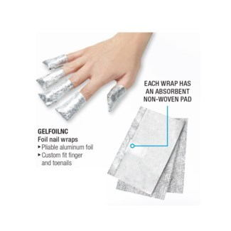 Silkline Foil Nail Wraps 100Box