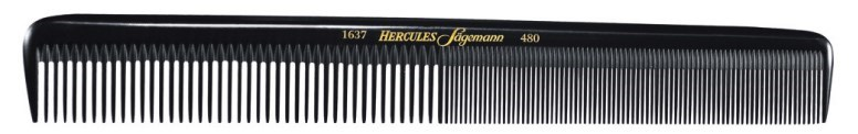 Hard Rubber Barbers Comb 7.5""