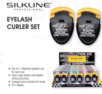 24pc Silkline Eyelash Curler Disp NYC