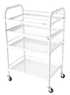 Spa Trolley 4 Tampered Glass Shelves
