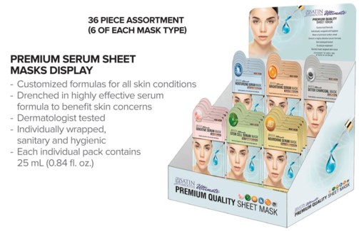 @ 36pc SS Serum Mask Display