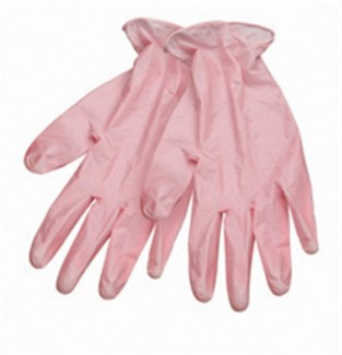 $ Large Style Touch PINK Vinyl Glove
