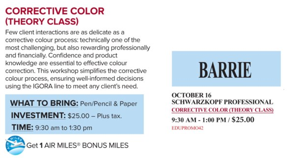 ! SCH CORRECTIVE COLOR OCT 16/17 + AM BA