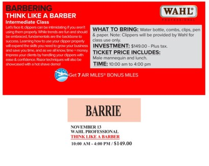 ! WAHL THINK LIKE A NOV 13/17 + AM BARRI