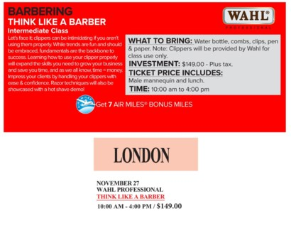 ! WAHL THINK LIKE A NOV 27/17 + AM LONDO