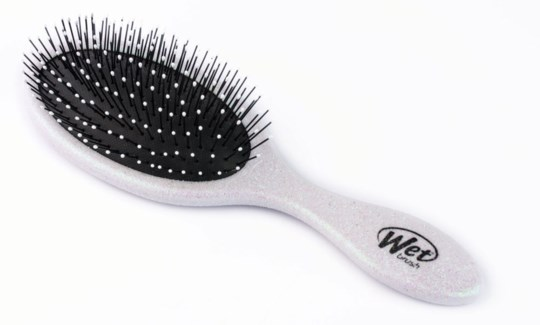 Holiday Glitter White Wet Brush