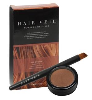 FHI HAIR VEIL Red Brown Powder Hair Fill