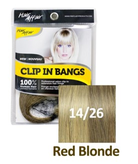 HH #14/26 Red Blonde Clip On Bang EXTE
