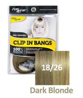 HH #18/26 Dark Blonde Clip On Bang EXTE