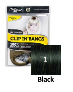 HH #1 Black Clip On Bang EXTENSION