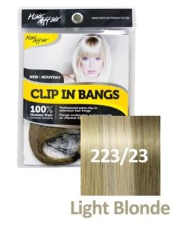 HH #223/23 Light Blonde Clip On Bang EXT