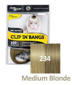 HH #234 Medium Blonde Clip On Bang EXT