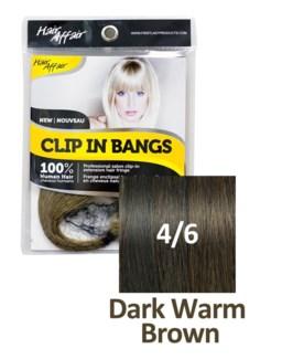 HH #4/6 Dark Warm Brown Clip On Bang EXT