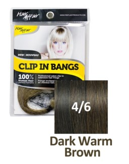 HH #4/6 Dark Warm Brown Clip On Bang EXT