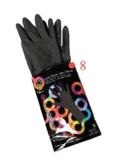 2pk Color Me Fab Gloves SZ 8 LATEX