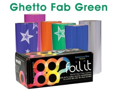 $ 1lb Roll Ghetto Fab Green Medium FOIL