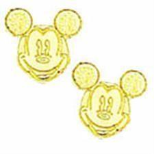 24KT Mickey Mouse Earrings