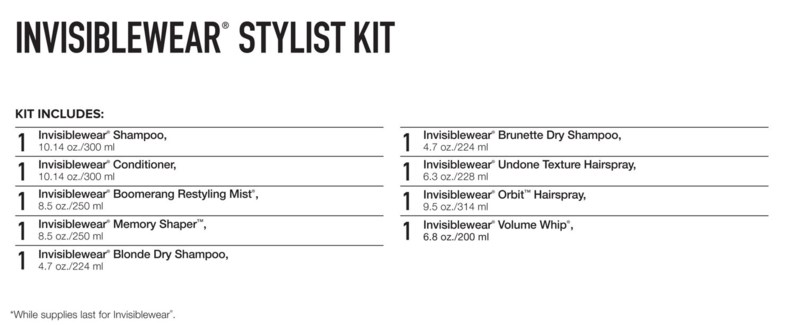 $ INVISIBLEWear Stylist Kit SO17 PM