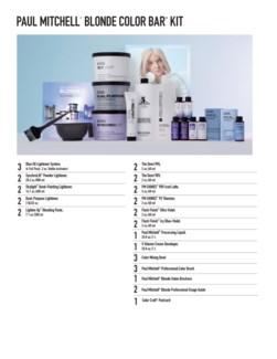 Blonde Color Bar Kit PM MJ18