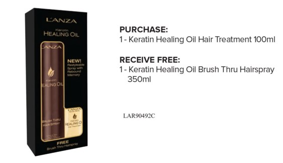$MD LNZ Keratin Oil Treat + Brush Thru S