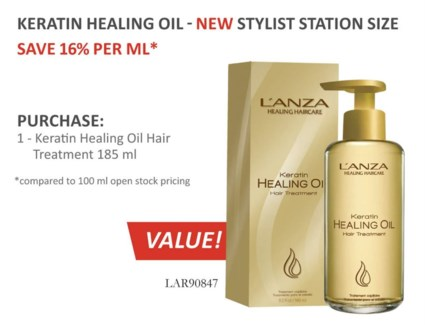 185ml Lnz Keratin Oil Treat 22006