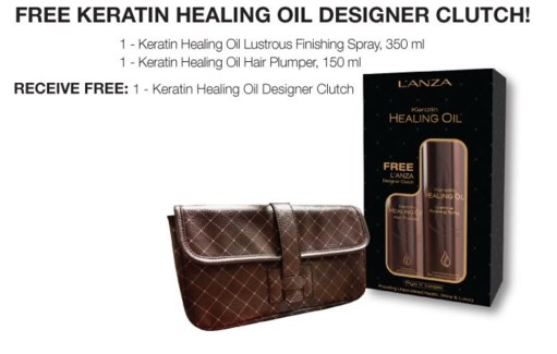$MD LNZ Keratin Oil & Designer Clutch JF