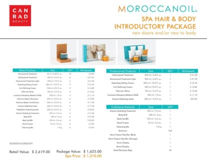 ! Moroccanoil Spa Hair & Body Intro