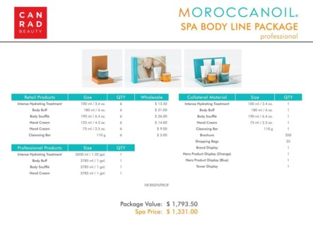 ! Moroccanoil Spa Body Line Professional