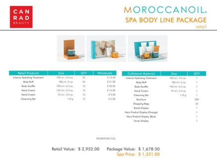 ! Moroccanoil Spa Body Line Retail