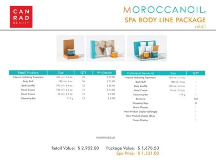 ! Moroccanoil Spa Body Line Retail