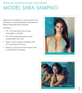 MOR SARA SAMPAIO POSTER Double sided