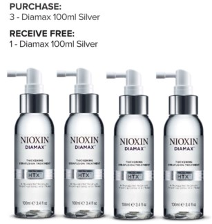 ! 3+1 NIOXIN Diamax 100ml SILVER ND17