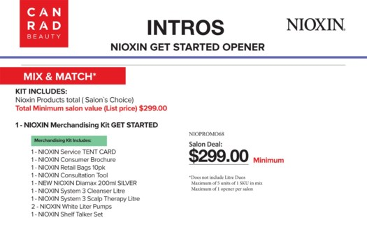 ! NIOXIN GET STARTED OPENER MIX & MATCH