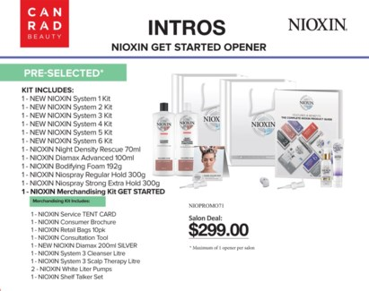 ! NIOXIN GET STARTED OPENER PRE-SELECT