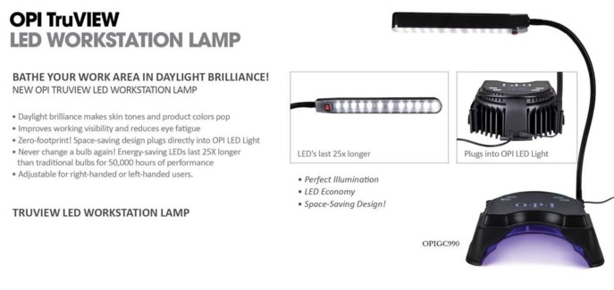 OPI TruVIEW LED Lamp