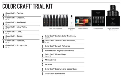 The COLOR CRAFT Trial Kit