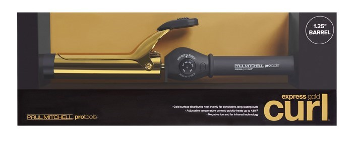 "Express Gold Curl 1.25"" Iron"