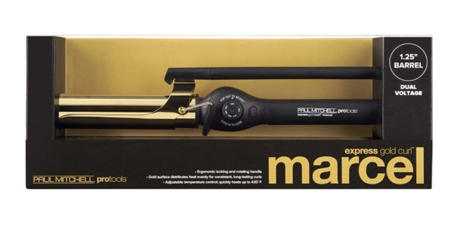 "Express Gold Curl 1.25"" MARCEL HANDLE"