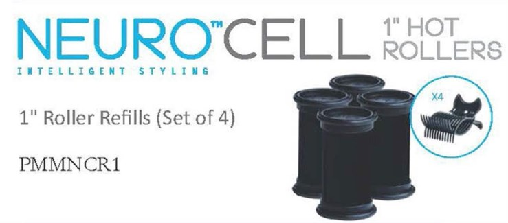 "Neuro Cell 1"" Hot Rollers (4)"