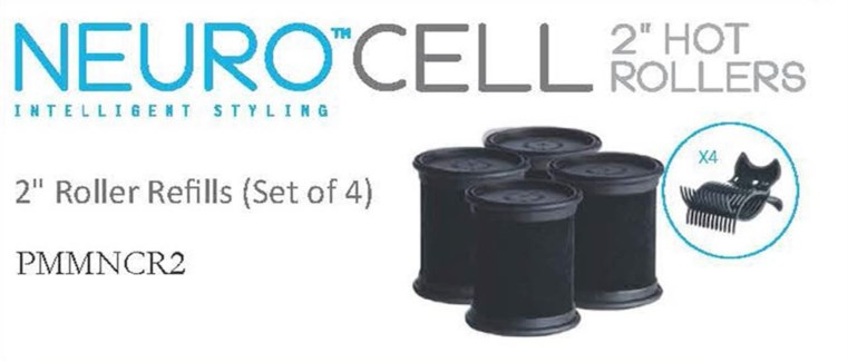 "Neuro Cell 2"" Hot Rollers (4)"