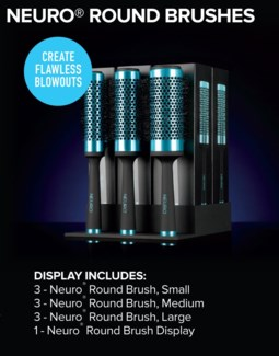 BF Neuro Round Brush Display SO16