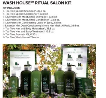 Tea Tree Ritual Salon Kit MJ18 WASH HOUS