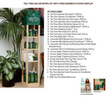 Tea Tree COLOR Salon Intro Display JA18
