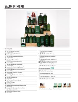Tea Tree Experience Salon Kit