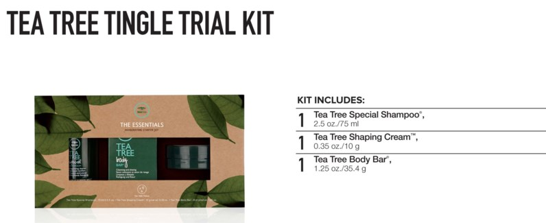 Tea Tree Tingle Trial Kit 2018
