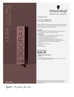 ! Igora Color10 Intro BUY25COLOR
