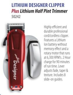 Lithium Designer Clipper W/ Pint Trimmer