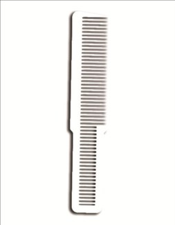White Clipper Cut Comb 53188